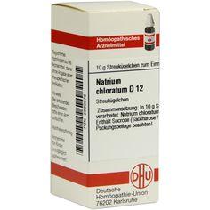 NATRIUM CHLORATUM D 12 Globuli:   Packungsinhalt: 10 g Globuli PZN: 02890676 Hersteller: DHU-Arzneimittel GmbH & Co. KG Preis: 5,19 EUR…