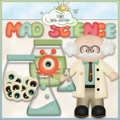 Mad Science $3.99   Sale:$2.00  Save:50% off     his collection includes large graphics so they'll work well for most printable paper crafts, teachers lessons / teacher lessons / teacher classroom lesson plans and digi scrapping, but they can also be reduced in size for web graphics.  All are high quality 300 dpi and come in both transparent PNG and non-transparent JPG formats.