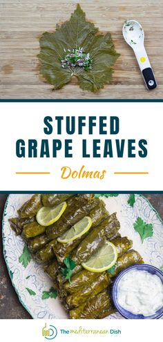 These flavor-packed grape leaves are stuffed with a tantalizing mixture of rice; meat; and loads of fresh herbs and warm spices, then cooked in a bright lemony broth. Vegetarian Recipes Easy, Clean Eating Recipes, Cooking Recipes, Healthy Recipes, Mediterranean Fish Recipe, Mediterranean Dishes, Greek Chicken Recipes, Greek Recipes, Healthy Comfort Food