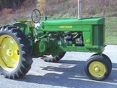 John Deere two cylinder model 60 row crop tricycle front. Looks like it may be an all fuel, which would make it pretty rare.
