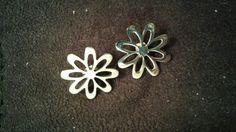 Aretes plata flores