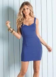 Resultado de imagem para vestido tubinho azul claro