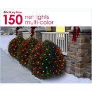 Holiday Time 70-Count LED Net Christmas Lights, Mutli-Color $9.98