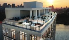 Toll Brothers Rooftop Cabanas at 2 Northside Piers in Brooklyn, NY. www.tollbrothers.com/NY