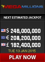 Mega Millions has shot to an amazing $246,000,000! Get your lucky numbers in to this huge draw before its too late!