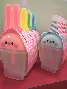 Cute animal popsicle holders (Rabbit Houses Anime)
