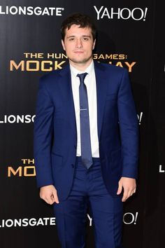 Josh Hutcherson looking dapper at the world premiere of The Hunger Games: Mockingjay Part 1. #MockingjayPremiere