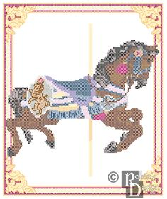 New to robinsdesign on Etsy: Carousel Horse Cross Stitch Pattern Philadelphia Toboggan Co. King's Dominion VA  PDF (5.00 USD)