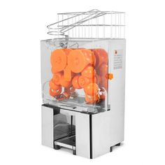 VEVOR Orange Juicer Commercial Auto Feed Orange Juicer Squeezer 120W Orange Juice Machine Squeeze 20-22 Oranges per Mins Stainless Steel Case *** To view further for this item, visit the image link.