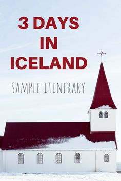 3 days in iceland sample itinerary