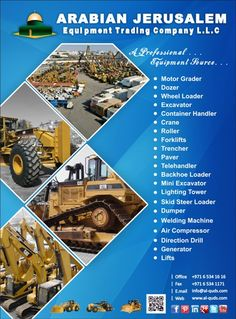 Good Morning Everyone,  New arrivals of Heavy equipment at our company yard,  Come and get your dream source machinery at a very reasonable price.  Put your inquiry on: Visit us at: www.al-quds.com Contact us: +971 6 5341616 Email: info@al-quds.com