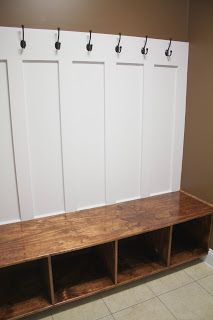 mudroom...this would be super easy to make