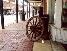 A view down main street with some of the many antiques positioned to attract shoppers, I loved them!!!