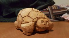 Hand carved tortoise made from silver birch.