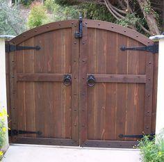 wood gate designs   Wood Gates - Arched - Yard - Custom Redwood - See-Through - Entrance ...