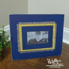 Navy/Yellow Wooden Frame - GREAT for GSU pics!