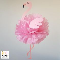 Be a flamingo in a flock of pigeons! Stand out from the crowd and hang this gorgeous and totally flamboyant decoration above your party table! Hang with multiple different coloured flamingos or with some pineapples. These pompoms will really set the theme of your party. This