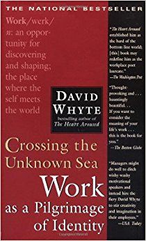Crossing the Unknown Sea: Work as a Pilgrimage of Identity by David Whyte 1573229148 9781573229142 Good Books, Books To Read, My Books, British Poets, Books Everyone Should Read, Thing 1, Success And Failure, Reading Levels, Inevitable