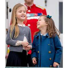 Princess Josephine and Princess Athena of Denmark were all dressed up ready to celebrate Danish Queen Margrethe's 77th birthday at the palace.