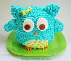 Easy Owl Birthday Smash Cake