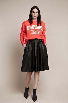 Liz Sweat and Veronique (Leather) Skirt.