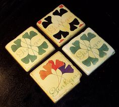 Ginkgo leaves multi 2 Coaster set of 4 by ParkRidgeHomeAccents, $9.99
