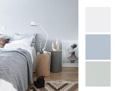 Déco Salon Bleu uni stiple de la collection frontier de Cole and son Home Wall Colour, Wall Colors, House Colors, Bedroom Colour Palette, Bedroom Colors, Cole And Son, Bedroom Furniture, Bedroom Decor, Scandinavian Bedroom