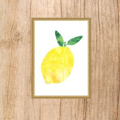 Watercolor Lemon Print - Instant Download! This is for a Downloaded print…