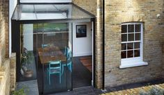 Adding a modern glass extension to a listed Georgian house in an East London conservation area Garage Extension, House Extension Design, Glass Extension, Extension Ideas, Side Extension, Georgian Terrace, Victorian Terrace House, Luz Natural, Georgian Homes