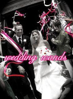 50 Wedding Wands- Wedding Wand- Any Colors- Wedding Streamers. $43.50, via Etsy.