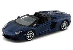 Dark blue 2011 Lamborghini Aventador diecast model car by Maisto.