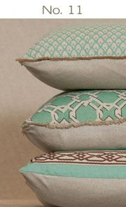 lacefield designs pillows! Start with some neutrals and add these for a POP of color!