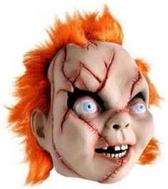 No Halloween without Chucky! I'm Chucky! And I'm your friend til the end! Scary Chucky, Chucky Face, Chucky Halloween, Chucky Costume, Top Halloween Costumes, Scary Costumes, Super Hero Costumes, Spirit Halloween, Halloween Make Up