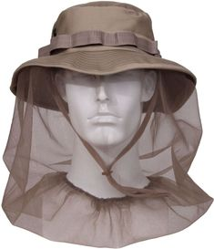 5729ce99add Khaki Military Tactical Boonie Hat With Full Mosquito Netting Protection   Rothco  BoonieHat Adventure Outfit