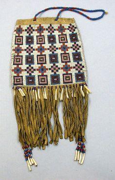 Navajo beaded medicine pouch