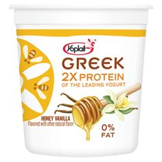 Love the plain flavor with honey on side.  dip the spoon in honey then dip some yogurt on spoon and eat,  yummo!