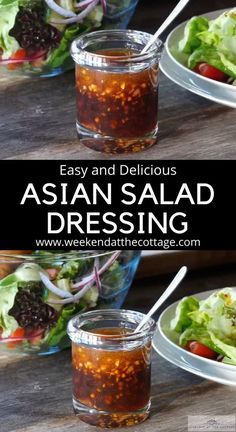 Asian Salad Dressing - Weekend at the Cottage Chicken Salad Dressing, Salad Dressing Recipes, Sweet Asian Dressing Recipe, Hawaiian Salad Dressing Recipe, Salad Dressing Homemade, Salad Dressing Healthy, Asian Coleslaw Dressing, Asian Sesame Dressing, Sesame Salad Dressing