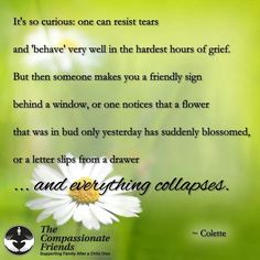 Everything collapses.