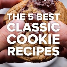 The 5 Best Classic Cookie Recipes // - Easy Dessert Recipes Delicious Desserts, Yummy Food, Desert Recipes, Diy Food, Sweet Recipes, Best Cookie Recipes, Baking Recipes, Pie Recipes, Food Videos