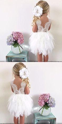 Lace Wedding Dresses #LaceWeddingDresses, Cute Wedding Dresses #CuteWeddingDresses, Ivory Wedding Dresses #IvoryWeddingDresses, Wedding Dresses 2018 #WeddingDresses2018, Open Back Wedding Dresses #OpenBackWeddingDresses