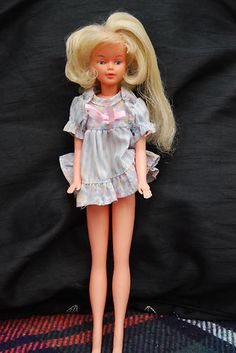 1970s Tressy Doll - I played with Tressy as much as with my Barbie's. (Patty) Weird looking, huh? Her hair grew but only from the top center.