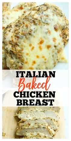 THE BEST! Italian Baked Chicken Breast recipe - Easy and Healthy Dinner Ideas - Chicken Recipes Italian Chicken Breast, Italian Baked Chicken, Healthy Baked Chicken, Italian Chicken Recipes, Easy Chicken Dinner Recipes, Baked Chicken Breast, Easy Appetizer Recipes, Baked Chicken Recipes, Easy Meals