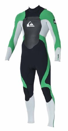 Quiksilver Syncro 5 3 Chest Zip Winter Wetsuit 2013 - Green Mens Winter 8d76ef5b5
