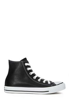 Converse All Star High-Top Sneaker - Black Leather - Sneakers