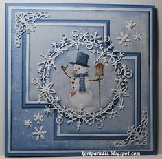 9 More Easy Homemade Christmas Cards with Step by Step Instructions – DIY Theory Homemade Christmas Cards, Christmas Cards To Make, Vintage Christmas Cards, Xmas Cards, Homemade Cards, Winter Karten, Snowman Cards, Snowflake Cards, 3d Cards