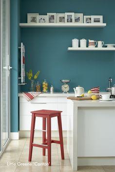 Little Greene Kitchen - Canton  Heyse Lifestyle Studio Hannover. The Little Greene Stockist mit eigener Farbmischanlage in Hannover.