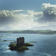 3rd STOP: Castle Stalker (on the way from Loch Awe to Glen Coe)  Details: http://www.castlestalker.com/wp/about/