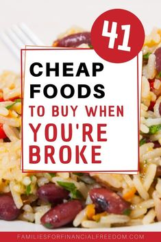 I love these cheap food ideas! Find food ideas to slash your groceries budget! These are great cheap food ideas to make cheap meals! Frugal Meals, Budget Meals, Groceries Budget, Easy Meals, Frugal Recipes, Inexpensive Meals, Cheap Dinners, Lunch Recipes, Healthy Dinner Recipes