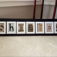 DIY Christmas present- last name do ones to go above this saying Mr & Mrs