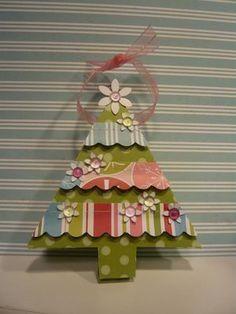 Cricut tree box ornament